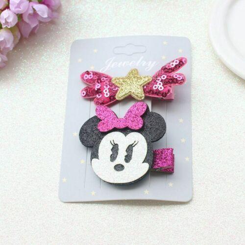 Cute Mickey Hair Clips Mouse for Girls Kids Hairpins Barrettes Cartoon Headwear