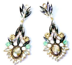 Chandelier-Earrings-Rhinestone-Multi-Marquise-3-5-inch-Pageant-Drag-Bridal-Prom