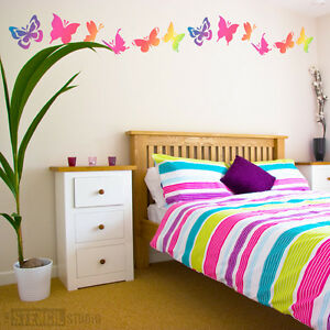 Perfect Image Is Loading Butterfly Stencil Set Kids Room Decor Nursery Stencils