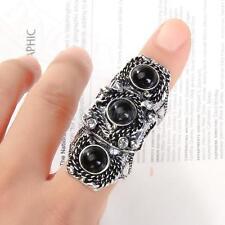 Punk Rock Gothic Full Finger Armor Ring Fashion Decor Antique Silver Unique