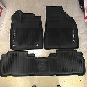 2014 2019 Toyota Highlander 3pc Oem All Weather Floor Liners Mats