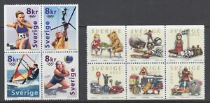Sweden-Sc-2395-2400-MNH-2000-Booklet-panes-2-different-fresh-VF