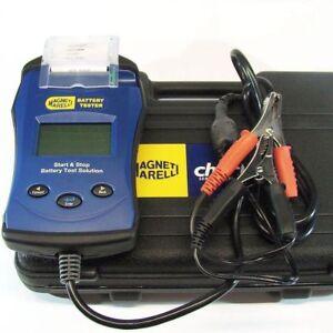 LCD Auto Batterietester 6/12V mit Drucker Magneti Marelli