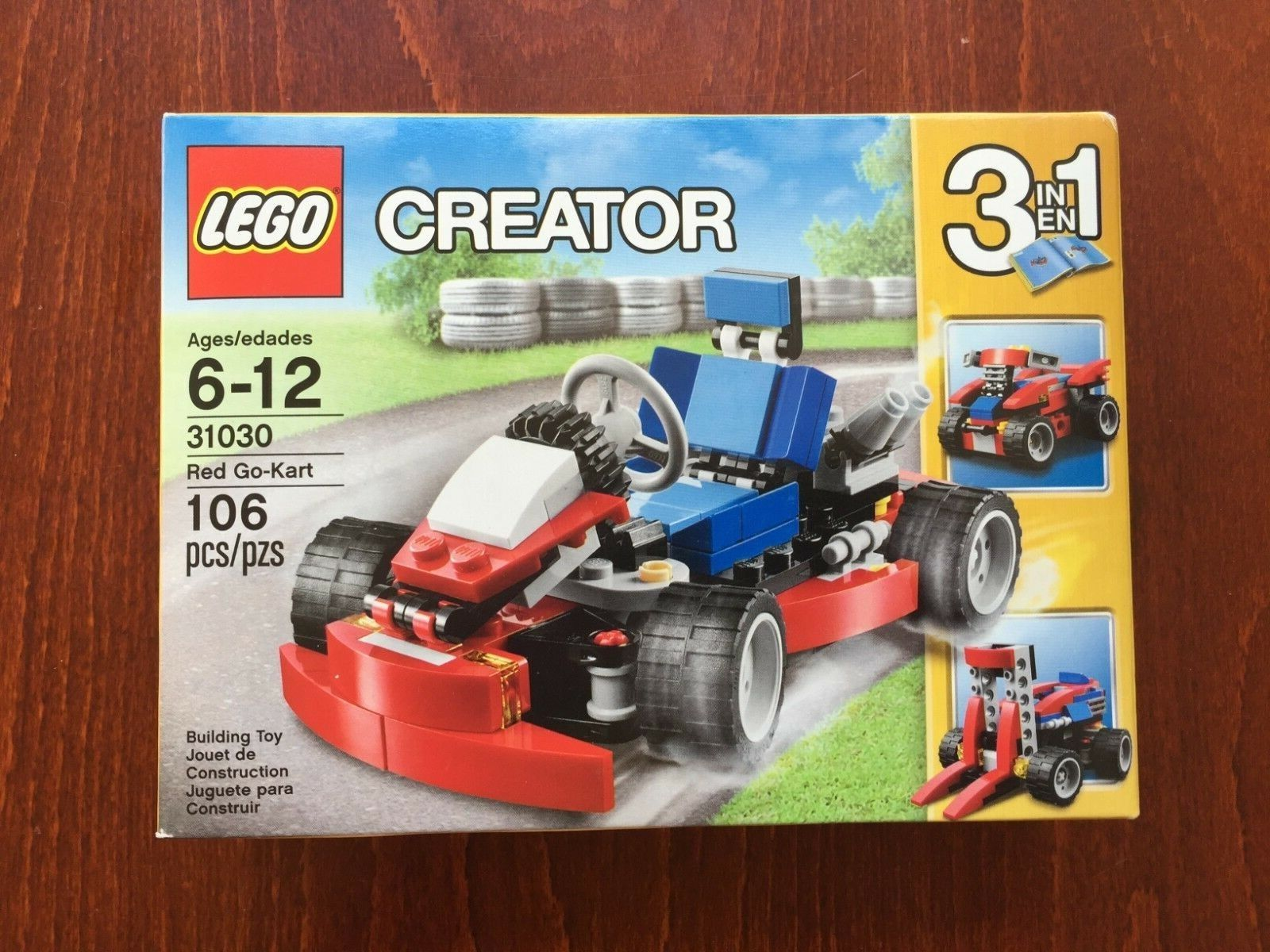 Lego Go Kart Red Red Red 31030 Retired NEW SEALED 3 In One  3 Vehicles c601fa