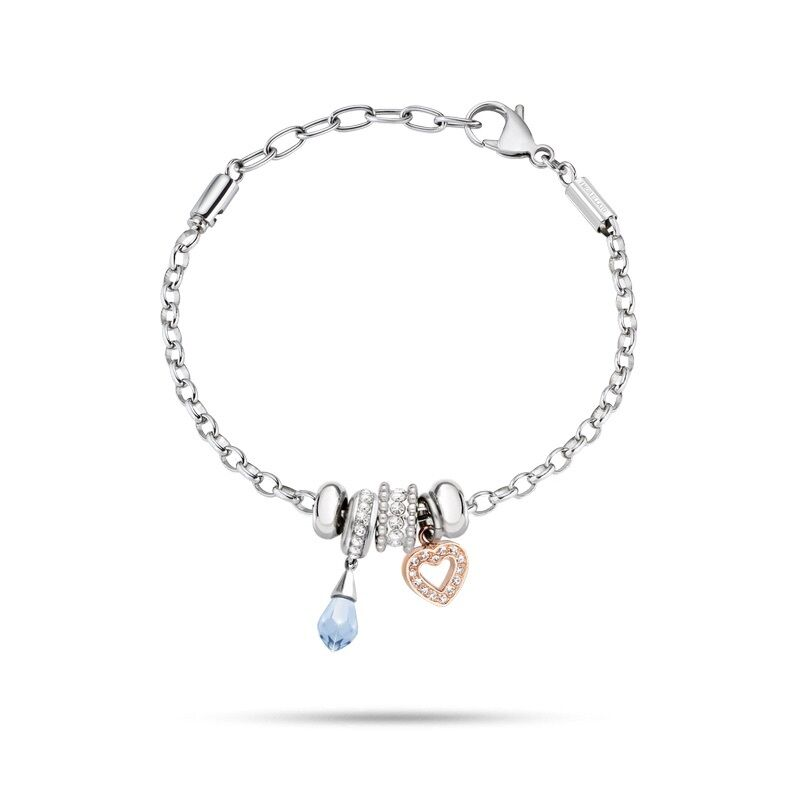 Bracciale MORELLATO DROPS women SCZ787 bracelet CHARMS CUORE COMPONIBILE