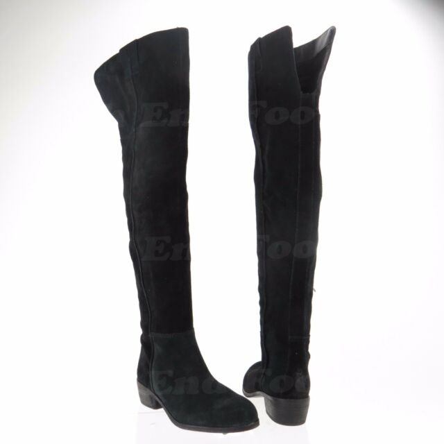 1f264f1c1 Sam Edelman Johanna Women s Black Over Knee Suede Boots Size 6.5 M NEW RTL   300