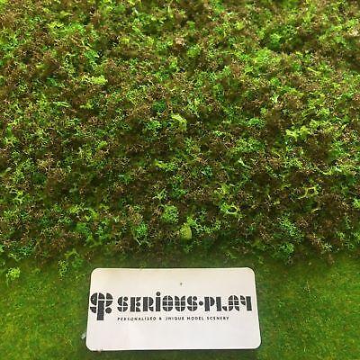 Red//Pink Mix Green Scrub Foliage Clump Bush Tree Model Wargame Railway Scenery