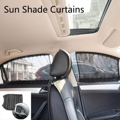 2pcs/set Elastic Car Side Window Sunshade Cover Curtains Auto Sun Visor Blinds