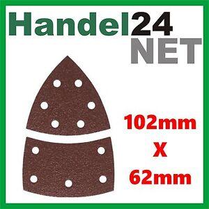 BOSCH Multischleifpapier Klett 11 Loch Körnung K120 102 x 62,93 mm 2609256A64