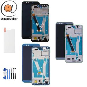 Ecran-LCD-Vitre-tactile-Honor-9-Lite-sur-chassis-frame-Noir-Bleu-Gris-LLD-L21