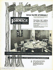 PUBLICITE ADVERTISING  026  1958  Formica  meubles salle à manger Jacques Dumond
