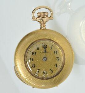 Details about Antique Crown Nurses Open Face Stem Wind & Set Pocket Watch  Running Fancy Case