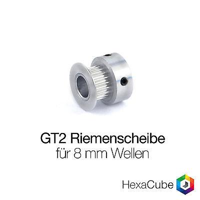 GT2 Riemenscheibe für 8 mm Wellen / Zahnrad Pulley RepRap, 3D Drucker, CNC
