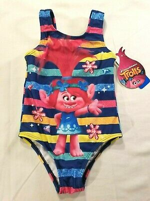 Trolls Poppy Girls Bathing Swim Suit Toddler 4T 4 One Piece