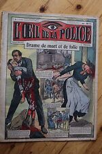 Rarissime L' OEIL DE LA POLICE 2A/9 Drame de Mort et Folie / Tramway
