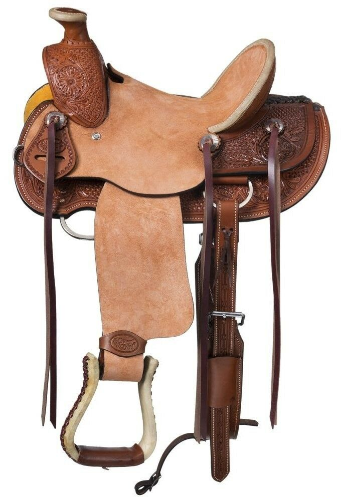 12 Inch Youth Winslow Wade Hard Seat Western Saddle - Med Oil-Roughout Leather