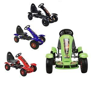 Foxhunter Children's Go Kart - Voiture à pédales pour enfants Gocart avec frein à main G03 Noir, bleu en Rupture De Stock, vert, rouge en Stock