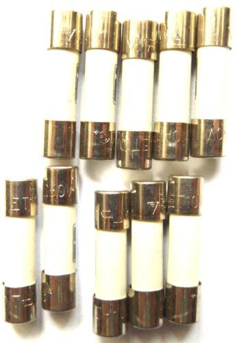 Fuse 10a  20mm HBC Antisurge// Time delay T10A H 250v Ceramic 0215010.MXP x10pcs