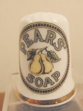 """Vintage Brands Fine Bone China """"Pears Soap"""" Thimble - Perfect & Boxed"""