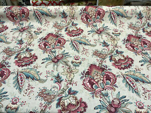 Jandel-Pink-Jacobean-Floral-Drapery-Upholstery-Vilber-Fabric-By-The-Yard