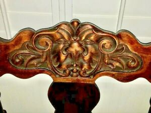 Stomps-Burkhardt-Victorian-North-Wind-Saddle-Chair-1800s-Antique-Carved-Wood