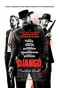 DJANGO UNCHAINED TARANTINO POSTER A4 A3 A2 A1 CINEMA MOVIE LARGE FORMAT