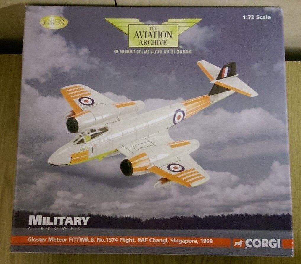 CORGI AA35003 Gloster Meteor F (TT) Mk8 RAF Changi 1969 LTD ED 0003 de 2010 | Des Technologies Sophistiquées