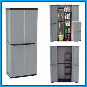 Image Is Loading Outdoor Utility Cabinet 2 Door Plastic Cupboard Shelves