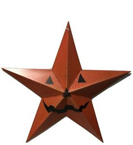 Pumpkin-Jack-O-Lantern-Metal-Hanging-Star-Halloween-Decoration