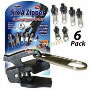 6Pcs Zipper Repair Universal Instant Fix A Replacement Zip Sewing Kit DIY Rescue