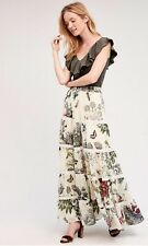 Anthropologie Kavita Bhartia Stemswept Maxi Skirt Floral Lace Sheer Small NWT