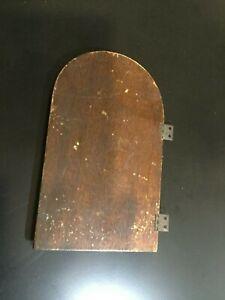 VINTAGE NEW HAVEN ELECTRIC MANTLE CLOCK BACK DOOR