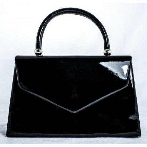 NEW RETRO PATENT WEDDING LADIES PARTY PROM EVENING CLUTCH HAND BAG PURSE