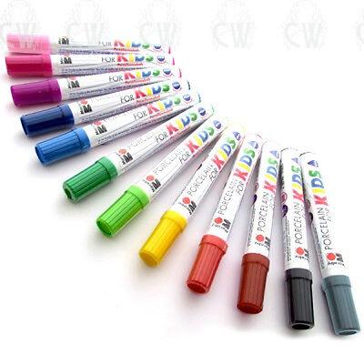 Marabu Porcelain Painter Pens for Kids. 13 Colours to Choose. Paint Marker Pens