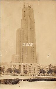 B85-University-of-Pittsburgh-Pennsylvania-Pa-RPPC-Postcard-c30s-Cathedral-Learn