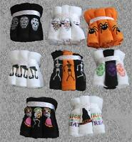 6 Kassa Fina Colorful Embroidered Halloween Washcloths You Pick Design Cute