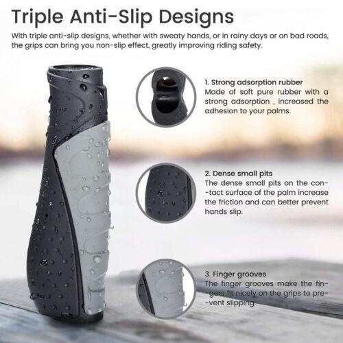 Short Bike Handlebar Grips Rubber Ergonomic Antislip Bicycle Handlebar Grips ~