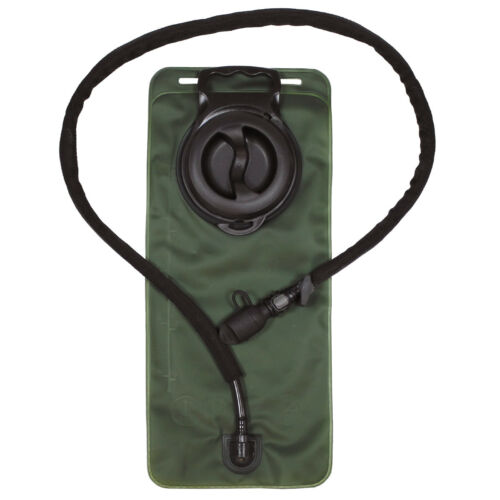 MFH TPU Bladder 2.5L Hydration Pack Hiking Outdoor Water Carrier Army OD Green