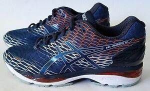 Men/'s Gel Nimbus 18 Running Shoe Poseidon//Dark Sapphire//Koi Size 8 M US