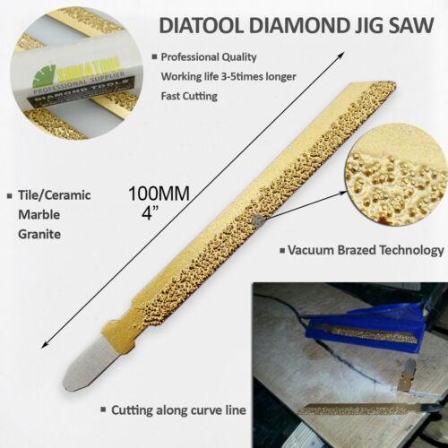 3-teiliges vakuumgelötetes Diamant-Stichsägeblatt Nr.46 für Granit-Marmorfliesen