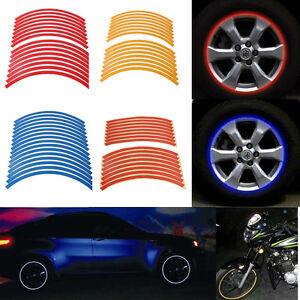 NEW-Reflective-Motorcycle-Car-Bike-Rim-Stripe-Wheel-Decal-Tape-Stickers-8mm-Wide
