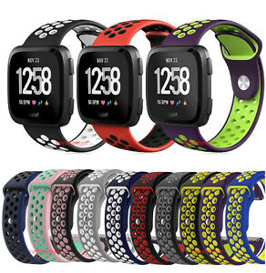Sport-Silicon-Replacement-Wristband-Strap-Breathable-Watch-Band-For-Fitbit-Versa
