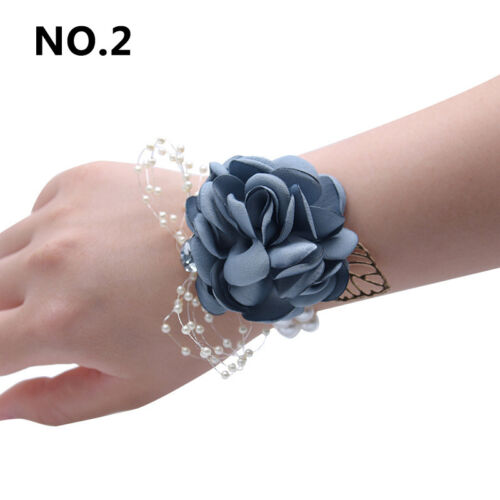 Wedding Bridesmaid Wrist Flowers Prom Party Corsage Hand Flowers Supplies Decor