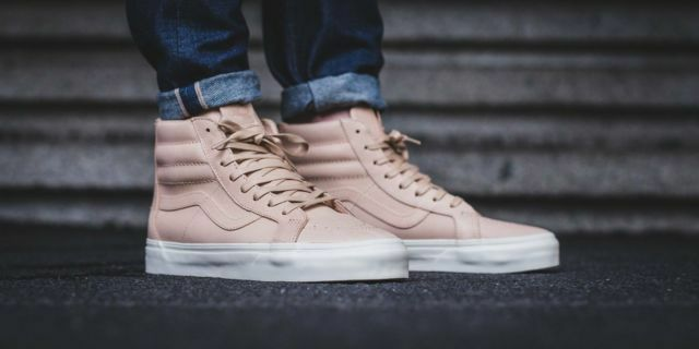 dd15b507a178 Vans Off the Wall Sk8 Hi Reissue Zip Veggie Tan Leather Shoes Mens ...