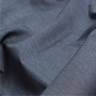 Indigo Denim Dress Jeans Fabric 100% Cotton sold by the metre 150cm wide quality