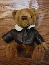 U.S Airways Brown Faux Jacket on Khaki Color Bear Dolls *Excellent*