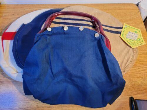 Braciano Bermuda Handbag Purse Reversible 2 in 1 Unique Design Wood Handles New!