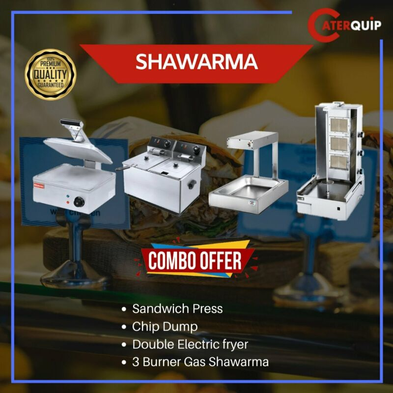 INDUSTRIAL CATERING EQUIPMENT - FRYERS - GRILLERS - SHAWARMA MACHINE - TOASTER - FRIDGES-WAFFLE ETC