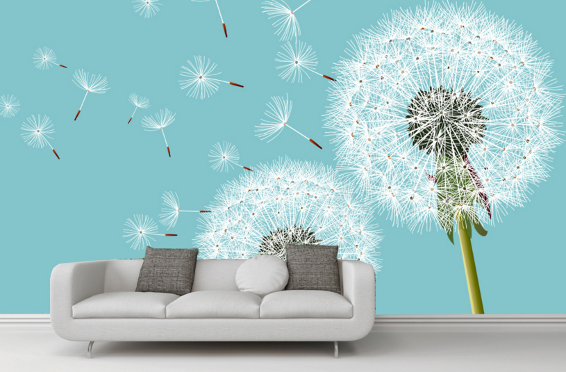 3D Weiß Dandelion Highlight Paper Wall Print Wall Decal Wall Deco Indoor Murals