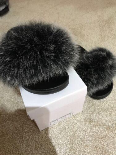 Size Slides Sliders 5 Fox Seller Uk 38 Fur Grey qfwHYC